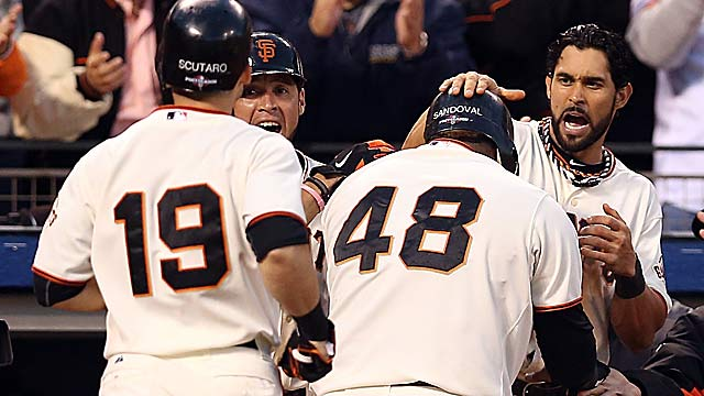 The Giants' offense scored the most runs in baseball with runners in scoring position. (Getty Images)