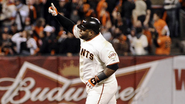 Pablo Sandoval has come a long way since riding the pine in the 2010 World Series. (US Presswire)