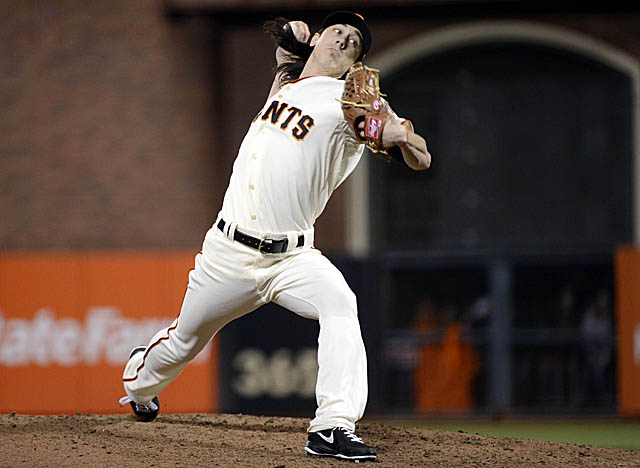 In just under 11 innings in relief this month, Lincecum's allowed one run, a walk and has 14 K's. (Getty Images)