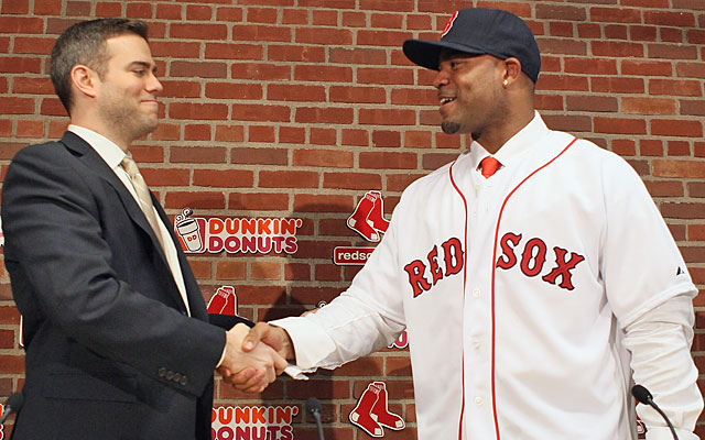 The fallout of a free-agency bust: Theo Epstein and Carl Crawford are both gone from Boston. (Getty Images)