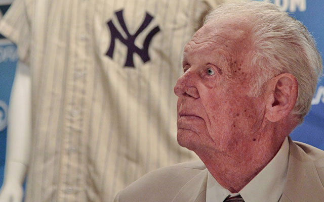 Don Larsen says he will put the proceeds of the auction toward his grandchildren's education. (AP)