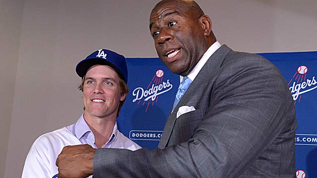 The recent Zack Greinke $147M signing put the Dodgers' payroll at $214.8 for next year, AP says. (US Presswire)