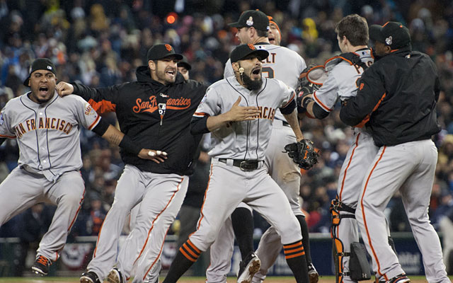 The Giants swept the Tigers for their second World Series championship in three seasons. (Getty Images)