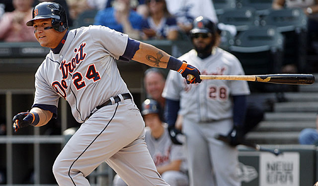 Cabrera becomes the first triple crown winner since 1967. The numbers: .330 BA, 44 HR, 139 RBI. (US Presswire)