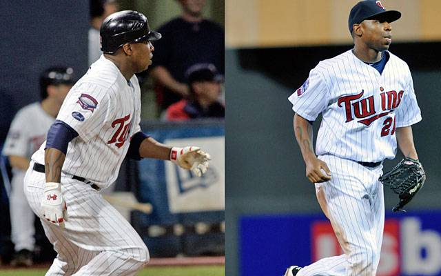 Delmon Young dropped 30 pounds between the 2009 (left) and 2010 seasons with the Twins. (AP)