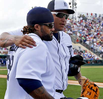 Prince Fielder and Miguel Cabrera don't look rusty with a homer apiece in their debuts. (USATSI)