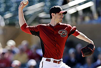 Brandon McCarthy strikes out four in two innings in his first game since taking a liner to the head on Sept. 5. (AP)