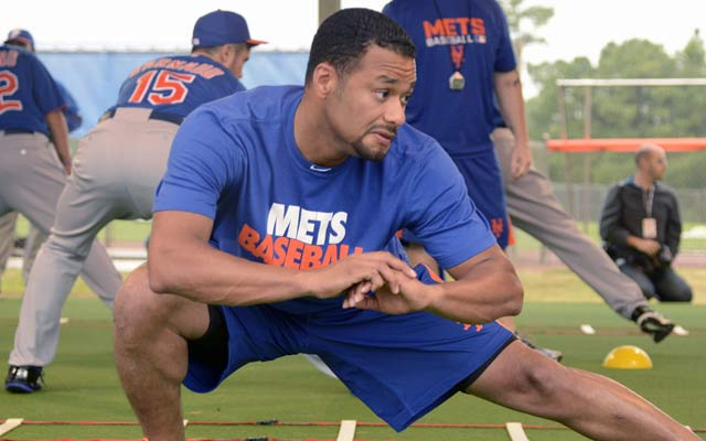 The Mets say Johan Santana's arm is fine, but his Opening Day start is in jeopardy. (USATSI)