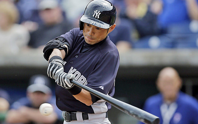 Ichiro Suzuki is expected to return to the Yankees' spring lineup Tuesday after a day off Monday. (AP)