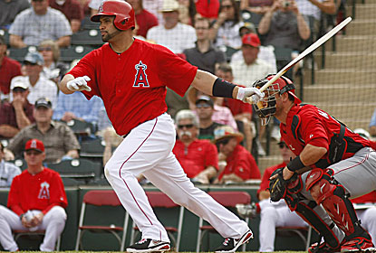 Albert Pujols, coming off offseason knee surgery, has a pair of groundouts and a strikeout in his first spring game. (USATSI)