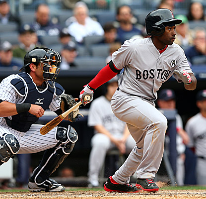 Jackie Bradley Jr. scores twice, walks thrice and earns an RBI in his first start in the majors. (Getty Images)