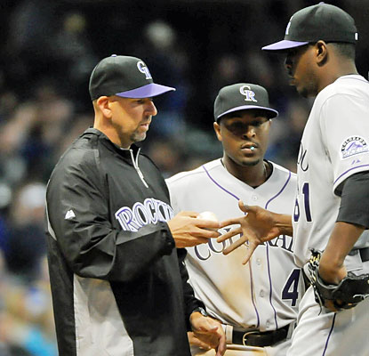 The Rockies take care of the Brewers to help Walt Weiss collect his first win as a major league manager. (USATSI)
