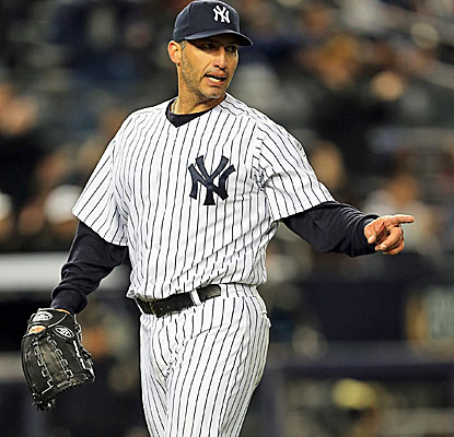 Andy Pettitte goes eight strong innings to lift the Yankees to their first win of the season.  (Getty Images)