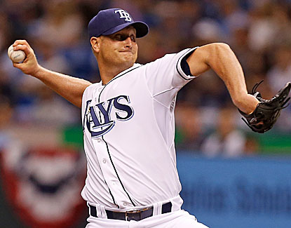Alex Cobb scatters four hits in just over 7 innings for Tampa Bay, which moves to 3-2 on the season. (Getty Images)
