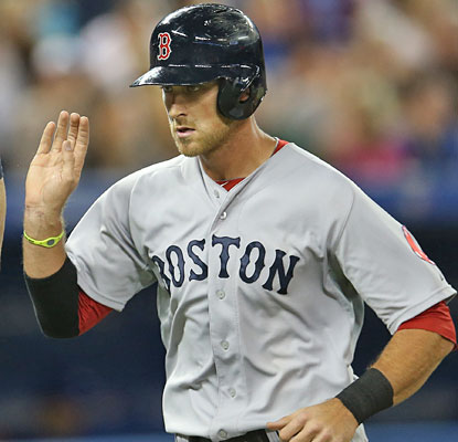 Will Middlebrooks has his first career three-HR game, adding a double and four RBI to lead the Boston offense.  (Getty Images)