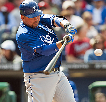 Billy Butler connects for a grand slam on his way to a big seven-RBI day in a Royals win.  (USATSI)