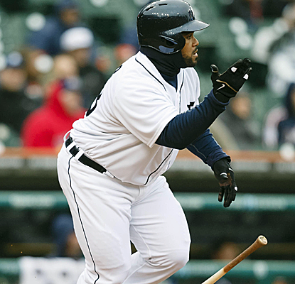 Prince Fielder posts four RBI as the Tigers knock around Jays starter Josh Jonhson.  (USATSI)