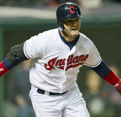 Nick Swisher knocks in the game's only run in the bottom of the ninth to win it for Cleveland.  (Getty Images)
