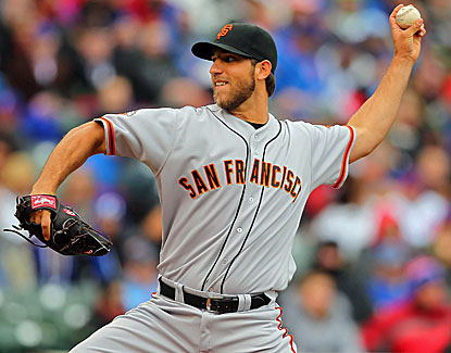 Giants starter Madison Bumgarner allows two runs while pitching neatly into the seventh inning. (USATSI)
