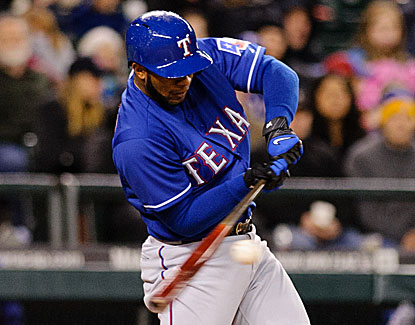 Elvis Andrus puts the Rangers ahead to stay with an RBI single in the eighth inning. (USATSI)