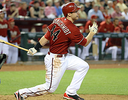Arizona's Paul Goldschmidt hits a game-winning single off Josh Beckett with one out in the ninth inning. (USATSI)