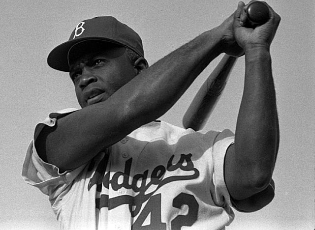 A six-time All-Star, Robinson is pictured here in 1954, a year before the Dodgers won the World Series.