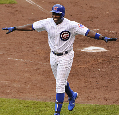 Alfonso Soriano can celebrate after his first home run this season results in his first RBI of 2013.  (USATSI)