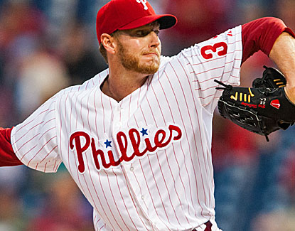 Phillies starter Roy Halladay tosses a two-hitter over seven innings, helping to put some previous setbacks behind him. (USATSI)