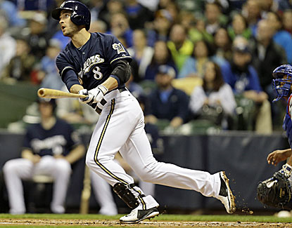 Ryan Braun hits a three-run homer to help push the Milwaukee Brewers past the rival Chicago Cubs. (Getty Images)