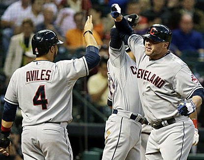 Jason Giambi drives in five runs as the Indians pound out 22 hits in a 19-6 rout of the Astros. (AP)