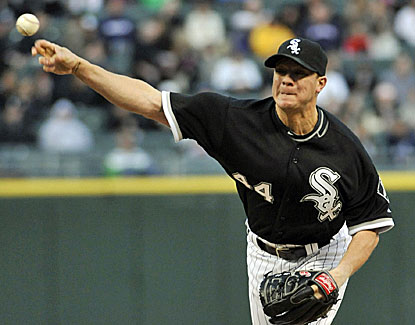 White Sox starter Jake Peavy allows three runs and six hits, with seven strikeouts, in 6 2/3 innings. (Getty Images)