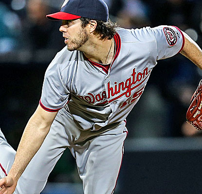 Dan Haren wins his second consecutive start, giving up four hits and one run with one walk and four strikeouts. (USATSI)