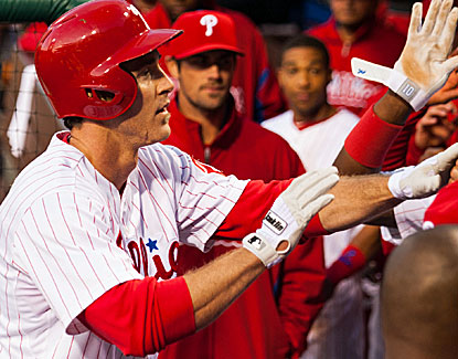Chase Utley is one of three Phillies to homer against the Marlins, enough offense for starter Jonathan Pettibone. (USATSI)