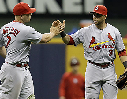 Matt Holliday and Carlos Beltran both homer in the Cardinals' easy win over the Brewers. (USATSI)