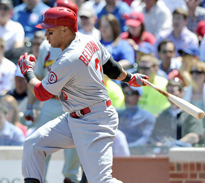 Carlos Beltran, who finishes with three hits, drives in two runs to help the Cards finish the road trip with a 5-1 mark. (ULive)
