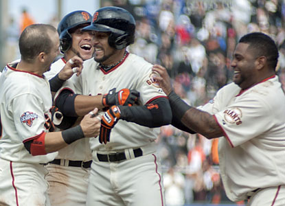 Andres Torres gets the Giants in the W column again after he drives in the winning run in the 10th. (USATSI)