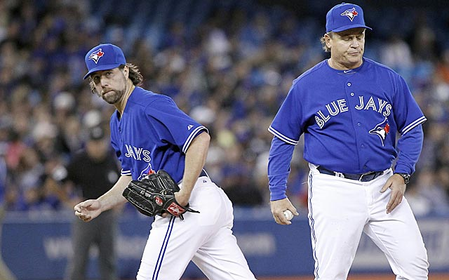 Could it be that R.A. Dickey will be traded before his first season with Toronto ends?