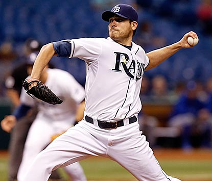 Matt Moore endures a shaky first inning and gets through the fifth to earn his sixth victory in seven games this season.  (Getty Images)