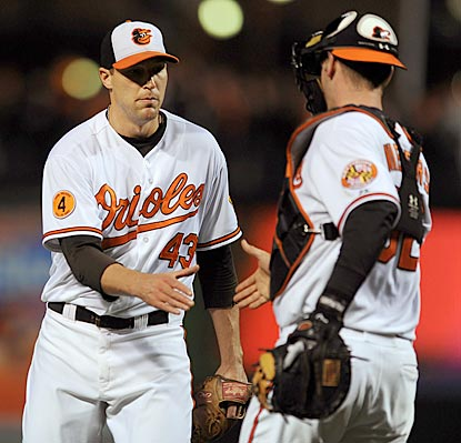 Jim Johnson nails down another save, and the Orioles win for the 108th time in a row when leading after seven innings.  (Getty Images)