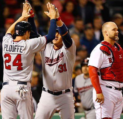Oswaldo Arcia (31) blasts a two-run homer for the Twins, who take three out of four from the Red Sox at Fenway.  (Getty Images)