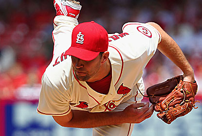 Adam Wainwright matches his career best with a two-hitter as the Rockies deny him the no-hitter. (Getty Images)
