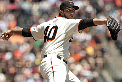 Madison Bumgarner strikes out 11 as San Francisco's rotation looks to be getting back on track.  (USATSI)