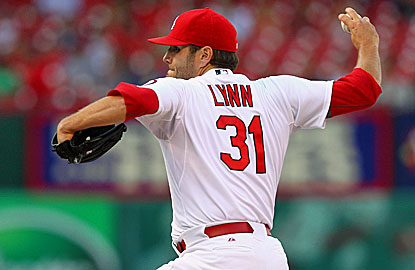 After a rough start, Lance Lynn settles down and gives up just one hit and a walk in his last five innings of work.  (Getty Images)