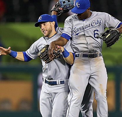 Billy Butler breaks out of a slump while the Royals add to the struggles of Joe Blanton and the Angels.  (Getty Images)