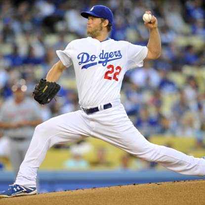 The Dodgers' Clayton Kershaw throws 8 2/3 of shut-out ball to earn his first victory since April 28. (Getty Images)