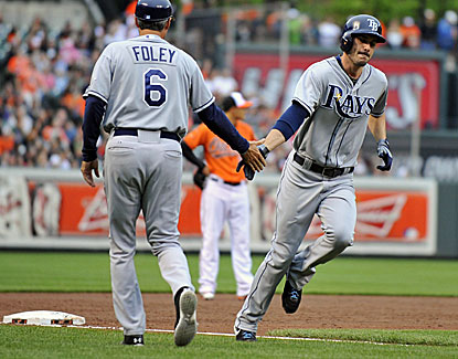 Tampa Bay's Matt Joyce homers in the 3rd to go along with his go-ahead two-run double in the 9th inning. (USATSI)