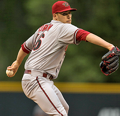 Patrick Corbin throws his first complete game, striking out 10 in a Diamondbacks victory.  (Getty Images)