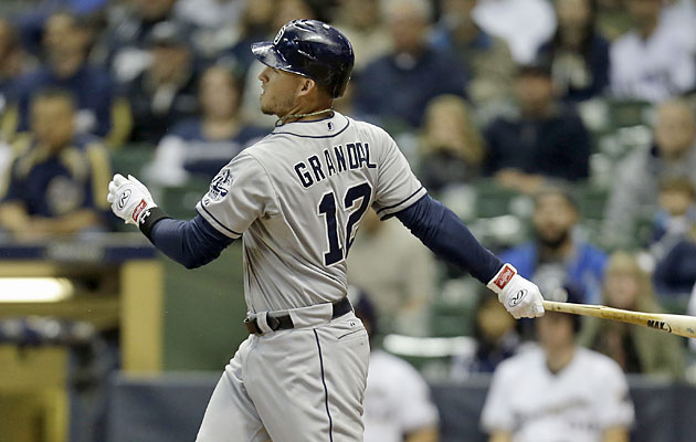 Grandal should be San Diego's best option at catcher when he becomes eligible to play on Tuesday. (Getty)