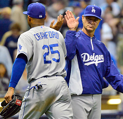 Carl Crawford has a big day, driving in two runs as Don Mattingly's Dodgers manage to win the series.  (USATSI)