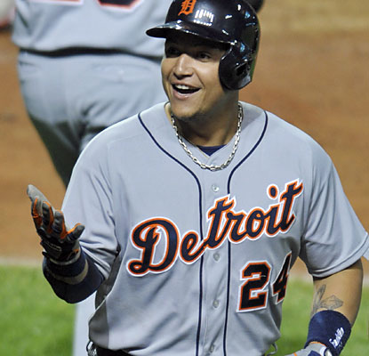 Lucky home run or not, Miguel Cabrera goes yard for the fifth time in the past three games. (USATSI)